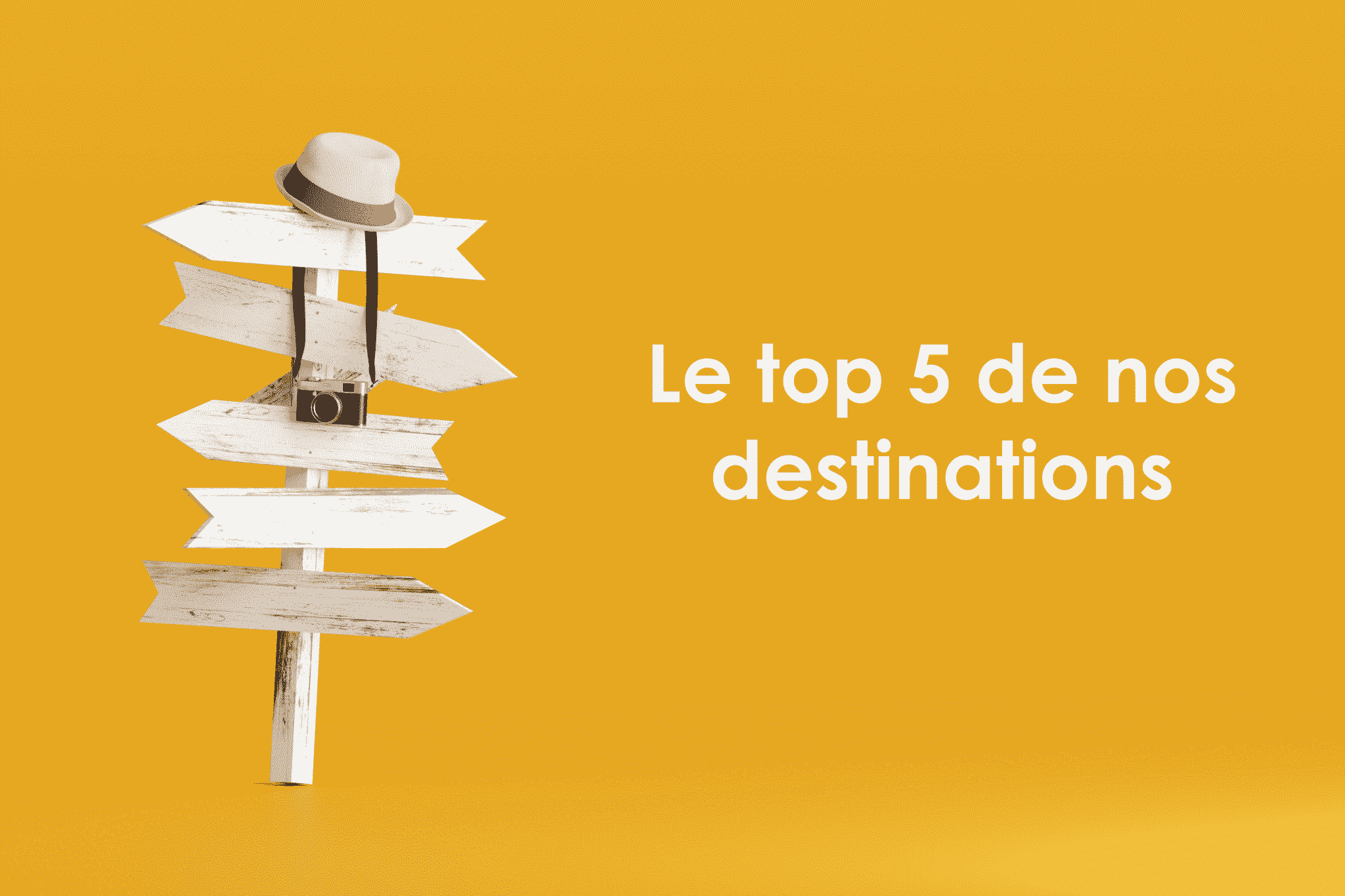 Top 5 de nos destinations